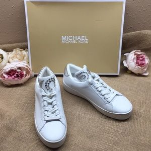 Michael Kors Mindy Leather Low Top White 6.5
